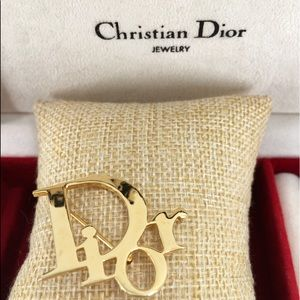 Christian Dior CD Brooch Pin
